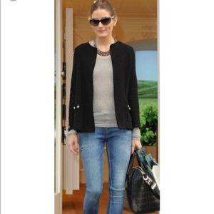 Zara black boucle cardigan/blazer Sz M